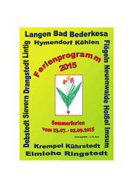 Wetter Bad Bederkesa Sommerferienprogramm Geestland By Nordsee Zeitung Issuu