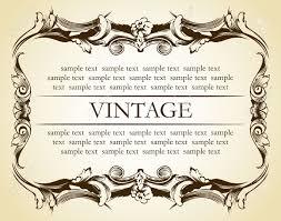 new frame vintage ornament vector illustration royalty free
