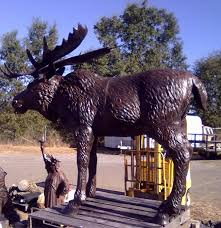 bull moose metal garden statue poor man u0027s bronze
