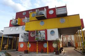 shipping container homes inside hybrid house with shipping