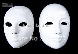 plain mask diy plain white masks for paper pulp blank