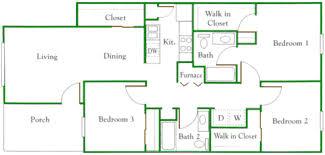3 Bedroom Apartments Floor Plans Apartments In Kokomo Indiana Floor Plans
