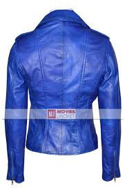 leather motorcycle clothing asymmetrical zipper women u0027s blue leather motorcycle jacket