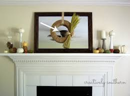 decoration fresh how to decorate a mantel with wall mirror and
