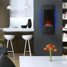 napoleon azure vertical wall mount electric fireplace sylvane