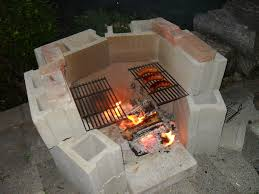 Outdoor Cinder Block Fireplace Plans - inspirations cinder block ideas cinder block grill how to