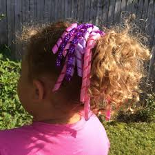 ribbon ponytail curly high quality ribbon ponytail holder purple pink