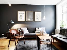 simple living room ideas black accent wall color with bulb pendants lighting ideas for simple
