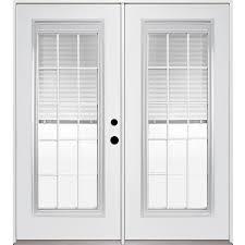 Inswing Patio Door Shop Reliabilt 71 375 In Blinds Between The Glass Unfinished Steel