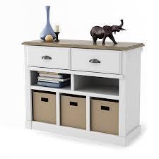 Entryway Console Table Entryway Console Table With Bins White And Oak Walmart Com