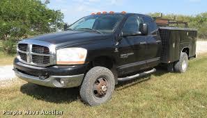 Dodge Ram 3500 Utility Truck - 2006 dodge ram 3500 big horn quad cab utility bed pickup tru