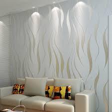 Modern Home Design Wallpaper Aliexpress Com Buy Non Woven Flocking Wallpaper Home Decor