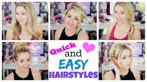 quick and easy hairstyles for summer youtube