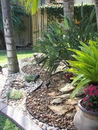Tropical Rock Garden Rock Garden Landscape Great Idea With Plants In Pots In Rocks