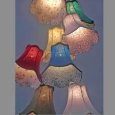 contemporary clusters colourful fabric shade pendant lamp lights 8 worjaku zone