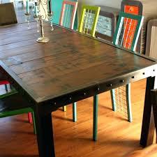 table de cuisine bois table cuisine style industriel cuisine indus style industriel a san