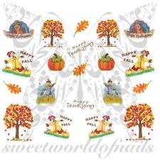 nail scarecrow turkey nail water decals