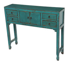 Turquoise Entry Table by Turquoise Slim Console Entry Table With Drawers Altar U0026 Console