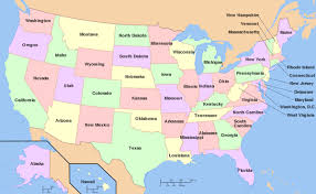 map usa states 50 states with cities american pronunciation lesson u s states and cities