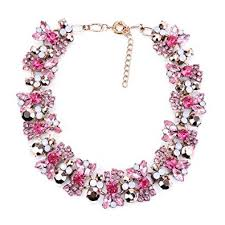 pink collar necklace images Azhido bling rhinestone crystal choker collar necklace jpg