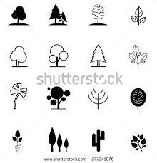 tree icons set stock vector 763581964