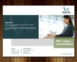 brochure design software playful brochure design for well data technologies by