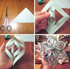 make a 3d paper snowflake paper craft and origami