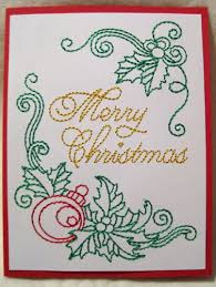 embroidered christmas the wooly thread embroidered christmas cards makaroka