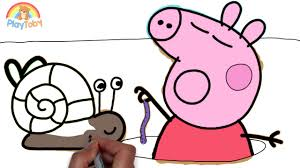 how to draw peppa pig coloring pages drawing videos for children