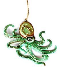 kurt adler 4 inch noble gems glass octopus ornament