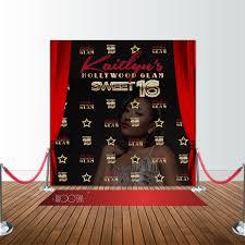 hollywood glam sweet 16 birthday 8x8 backdrop step u0026 repeat