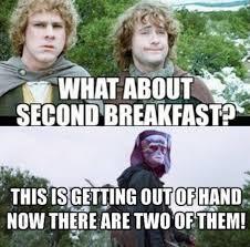 Second Breakfast Meme - let the lotr crossover memes begin prequelmemes