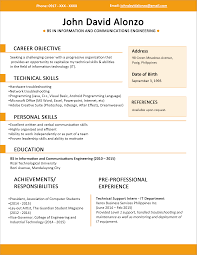 resume format 2015 free download best resume template free download philippines sle resume