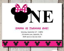 minnie mouse 1st birthday invites gallery invitation design ideas
