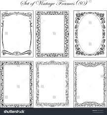 set vintage ornamental frames stock vector 534314407