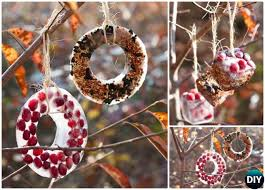diy birdseed ornaments 20 diy bird feeder projects to bring