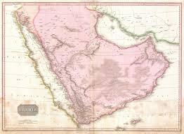 Map Of Persian Gulf File 1818 Pinkerton Map Of Arabia And The Persian Gulf