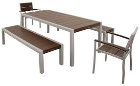 Outdoor Furniture Syracuse Ny by Trex Surf City 5 Piece Bench Dining Set U0026 Reviews Wayfair