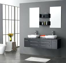 awesome bathroom aplying grey accent wall color completed with