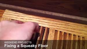 Fixing Squeaky Floors With Screws by Weekend Projects Silence The Squeak Lifestyle Lancasteronline Com