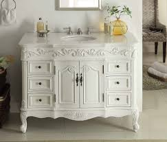 antique traditional bathroom vanities featuring white varnished