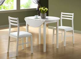 Small Drop Leaf Table With 2 Chairs Furniture Captivating Monarch White Dining Set Diameter Drop