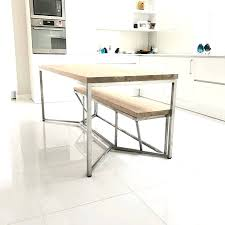 Dining Table Metal Top Mabel Metal Dining Table With Glass Top Brushed Stainless Steel
