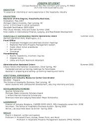 Resume Examples For Housekeeping by Download Concierge Resume Haadyaooverbayresort Com