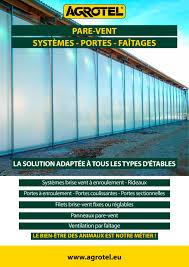 brise vent transparent agrotel systèmes de pare vent agrotel gmbh catalogue pdf