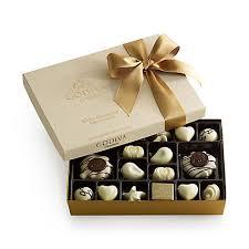 assorted gift boxes white chocolate gift box gold ribbon 24 pc godiva