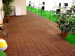 patio ideas rubber patio tiles with brick motif tiles and vases