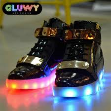 light up sneakers light up shoes led black and gold cool mania