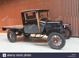 Ford Vintage Truck - black ford model t pickup truck from circa 1920 stock photo