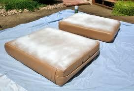 spray painting vinyl cushions